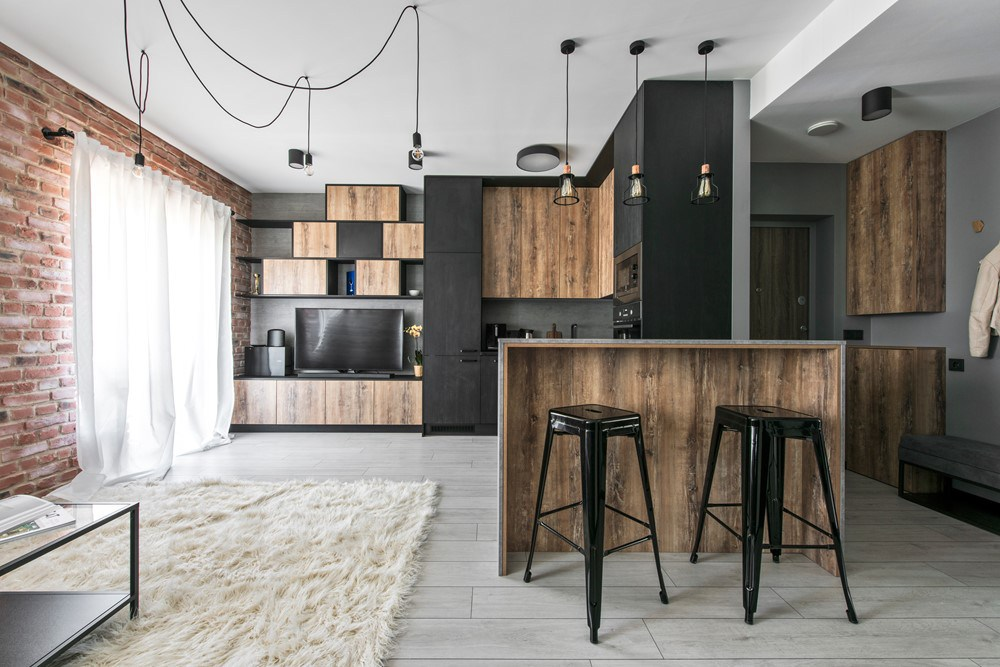 Redesigning of a 50 m2 apartment