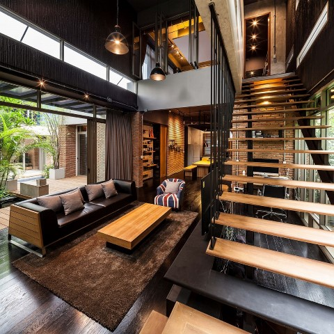 Inspiring houses located in Bangkok_living room
