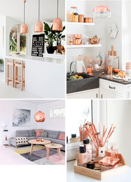 Cool Rose Gold Home Decor Accessories