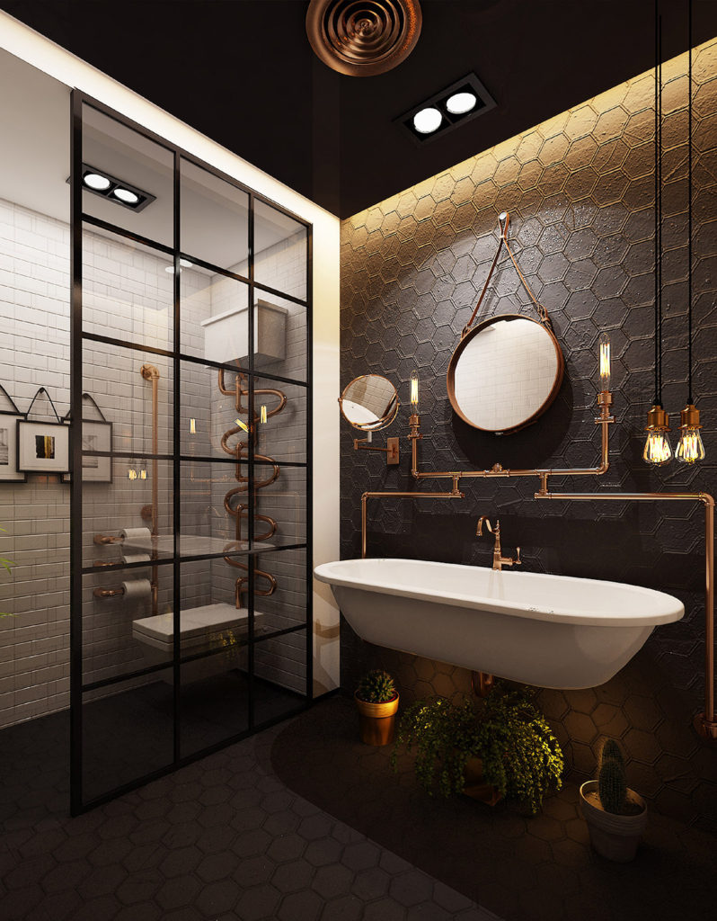 awesome industrial style home design | 26 awesome industrial style bathroom ideas for you ...